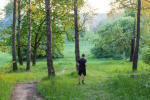 Для начала можно совершить длительную прогулку по лесу, а после появится желание бежать