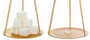 Весы с сахаром и сахарозаменителем