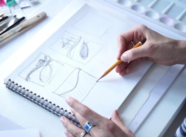 рисунок карандашом в онлайн школе рисования